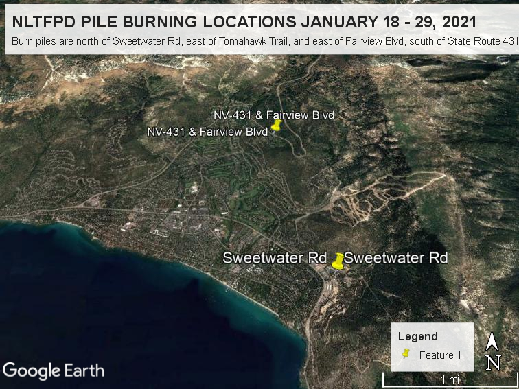 PILE BURNING TO CONTINUE JANUARY 18 - 29, 2021